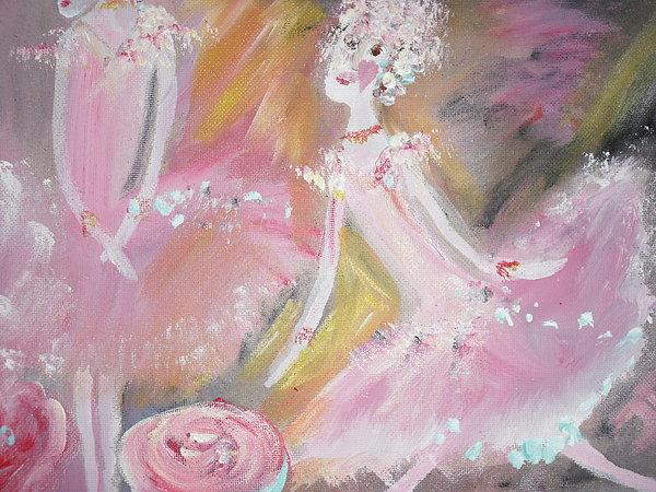 Love Rose Ballet Print by Judith Desrosiers