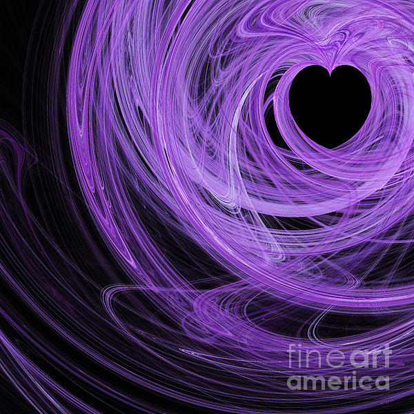 Love Swirls . Square . A120423.689 Print by Wingsdomain Art and Photography
