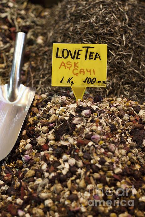Love Tea Print by Leslie Leda