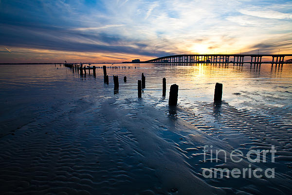 Joan McCool - Low Tide Biloxi Bay Bridge