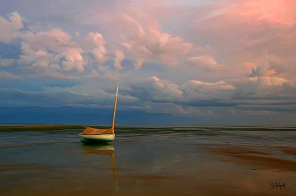 Low Tide Print by Sue  Brehant