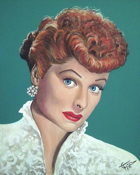 Lucille Ball Print by Tom Carlton