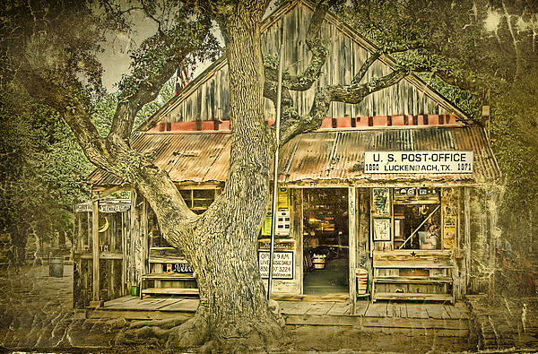 Luckenbach Aged Print by Scott Norris
