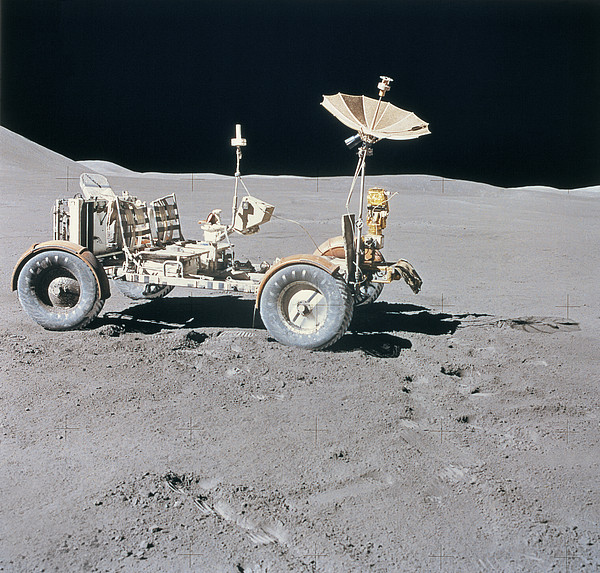 Lunar Vehicle On The Surface Of The Moon Print by Stockbyte