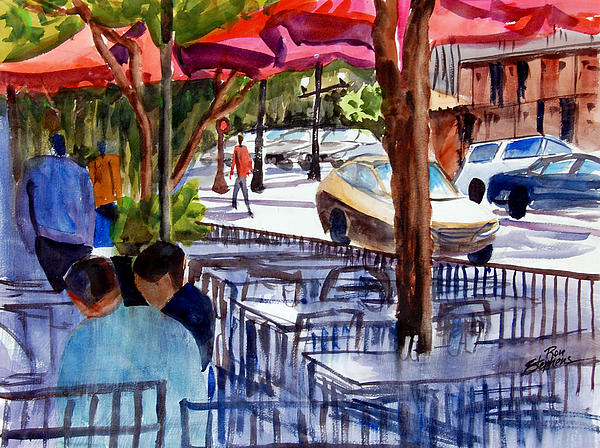 Lunch Alfresco Print by Ron Stephens