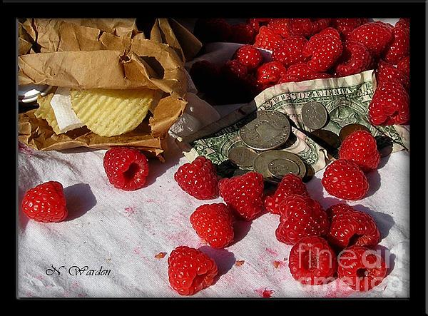 Norma Warden - Lunch Break in the Berry Field
