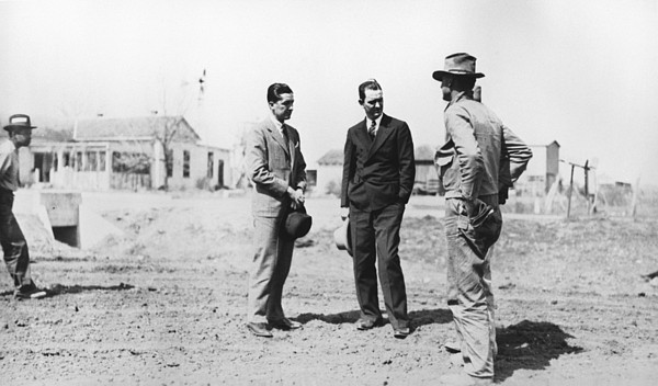 Lyndon Johnson Visiting A National Print by Everett