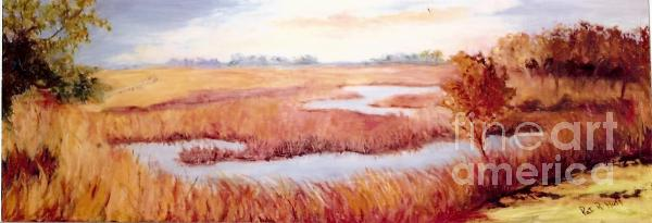 Lynne's Marsh Print by Patricia Huff