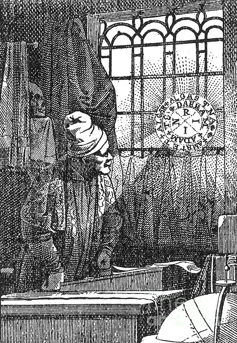 Macrocosm Appearing To Doctor Faustus Print by Science Source