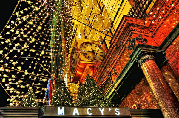 Macy's Christmas Lights Print by Randy Aveille