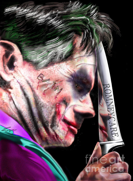 Mad Men Series 2 Of 6 - Romney The Joker Print by Reggie Duffie