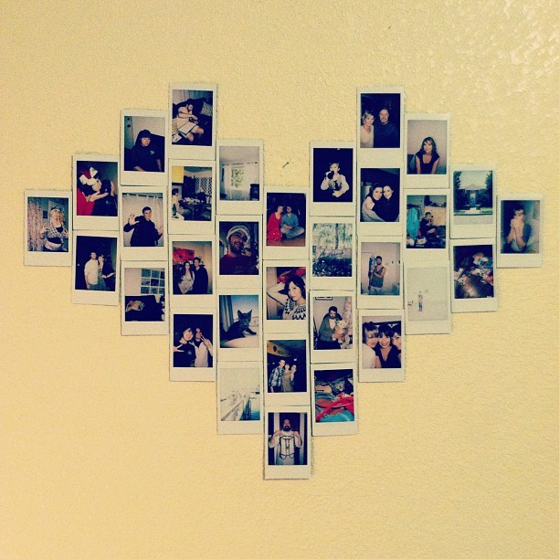 Wall Art Heart Collage : Made a heart collage on my wall from by allison faulkner