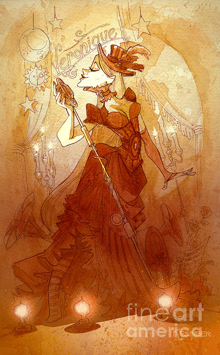 Mademoiselle Veronique Print by Brian Kesinger
