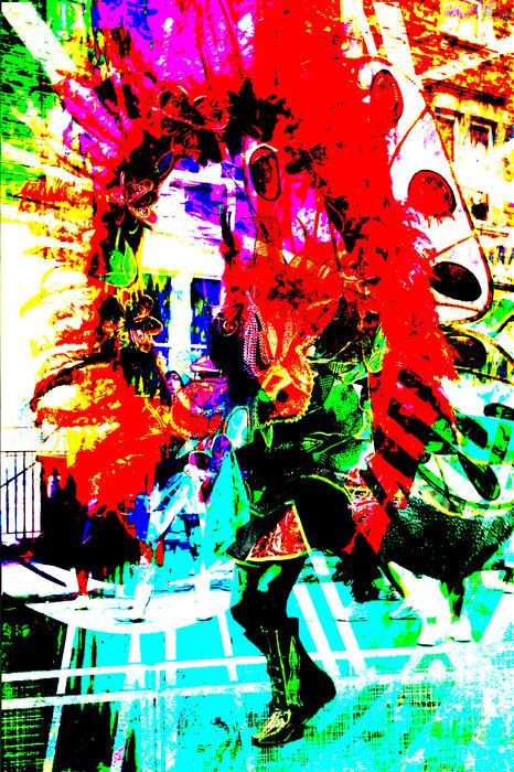 Madi Gras Print by Brian Roscorla