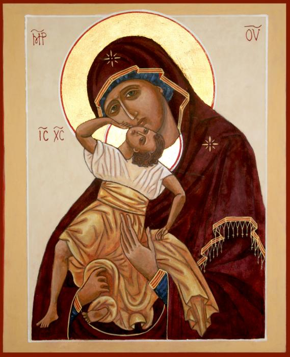 Madonna And Child Print by Phillip Schwartz