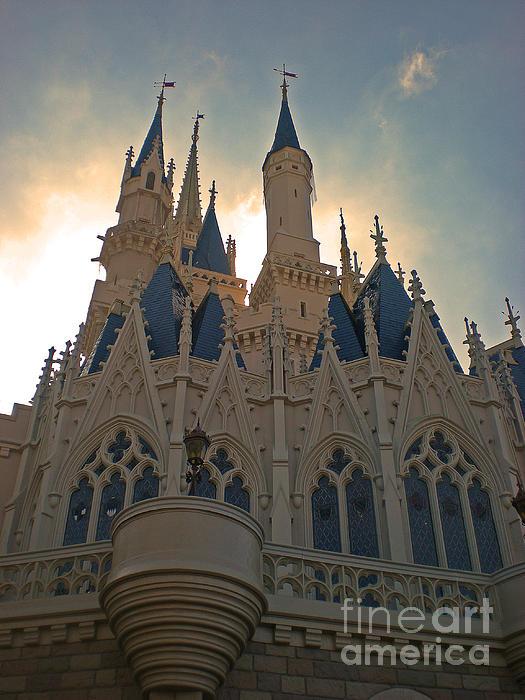 Magic Kingdom - Cinderella Castle Print by AK Photography