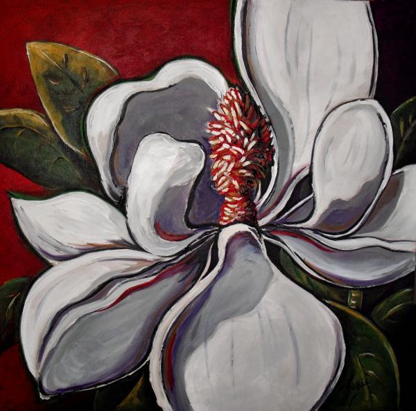 Magnolia Grand Print by Vickie Warner