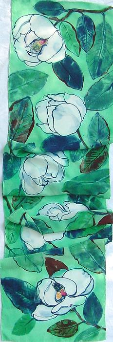 Morgan Silk - Magnolia silk crepe scarf