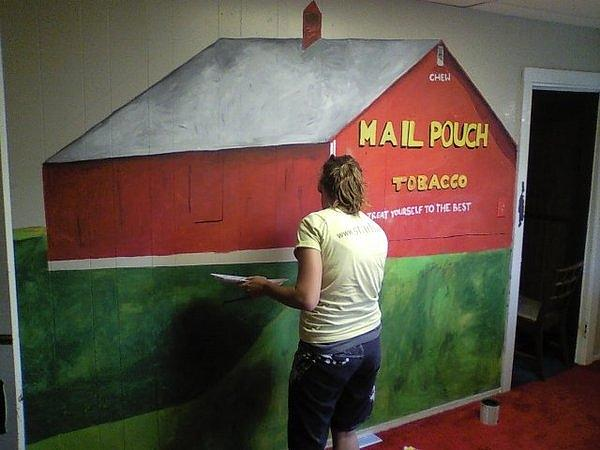 Amber Elwood - Mail Pouch Mural