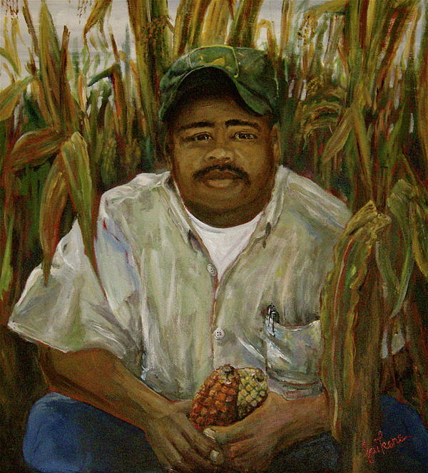 Maize Farmer Painting  - Maize Farmer Fine Art Print