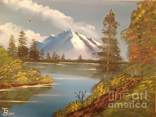 Majestic Mountain Lake Print by Tim Blankenship