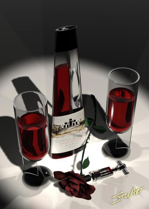Malbec Wine - Romance Expectations Print by Stuart Stone