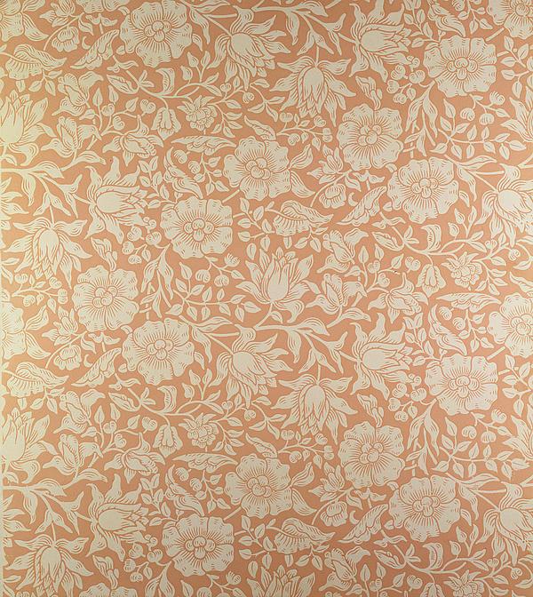 Mallow Wallpaper Design Print by William Morris