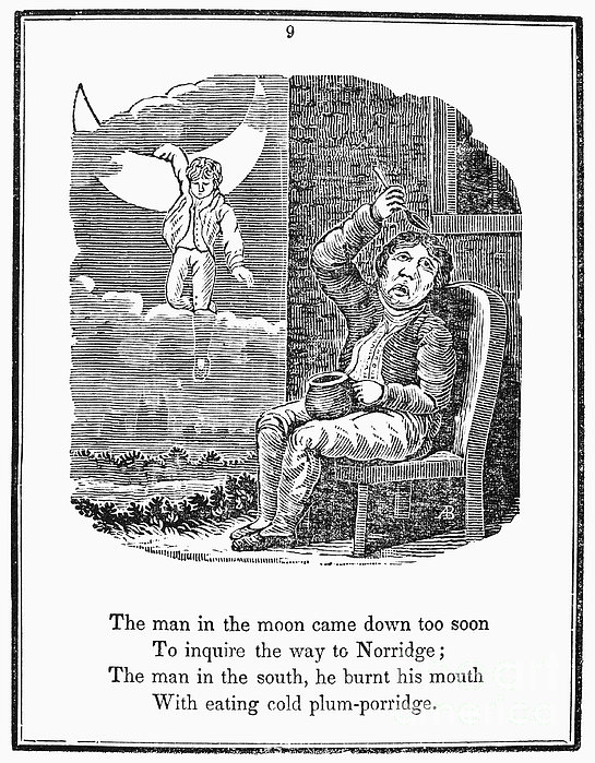 Man In The Moon, 1833 Print by Granger