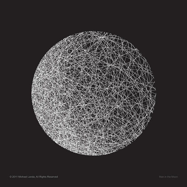 Man In The Moon-shape Print by Michael Landa
