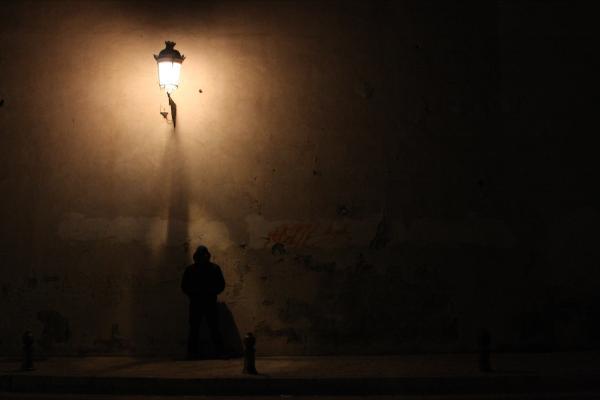Man Stands Alone By Jason Hochman