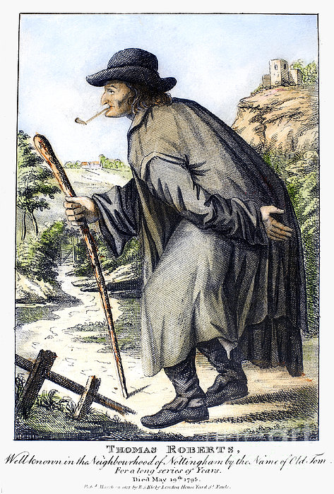 Man With Cane, C1795 Print by Granger