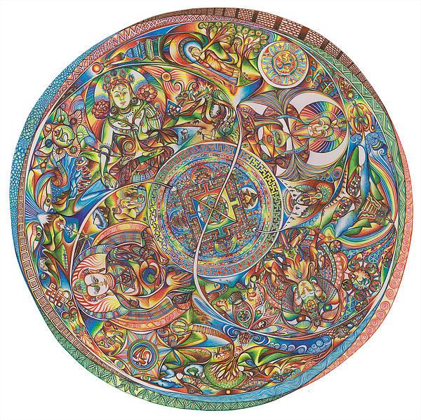 Mandala Buddha Print by Jonathan DiNo DiNapoli