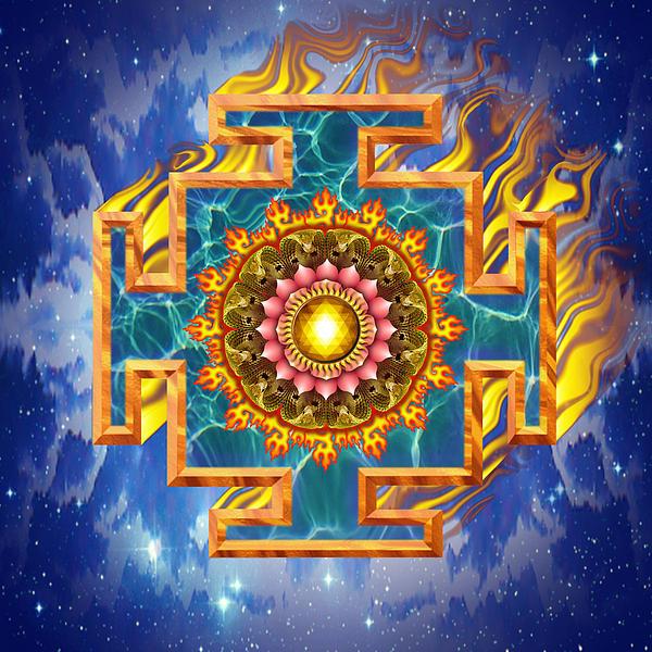 Mandala Shiva Print by Mark Myers