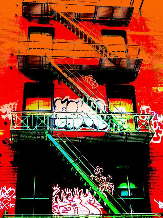 Manhattan Fire Escape Print by Funkpix Photo Hunter