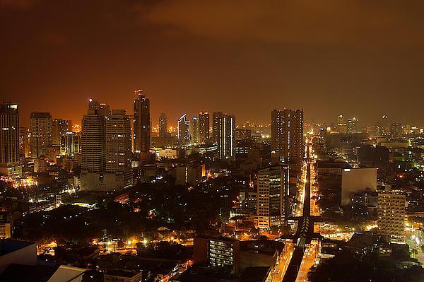 Manila City 02 Print by Arj Munoz