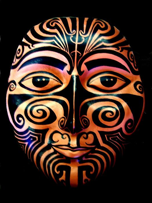 Maori Mask Print By Michelle Dallocchio