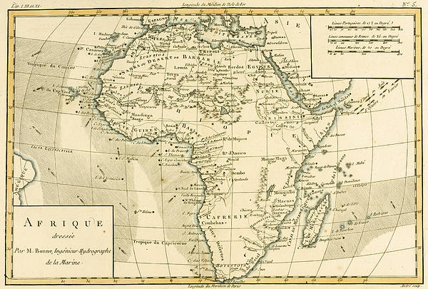 Map Of Africa Print by Guillaume Raynal