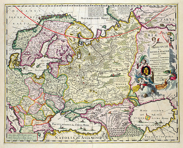 Map Of Asia Minor Print by Nicolaes Visscher