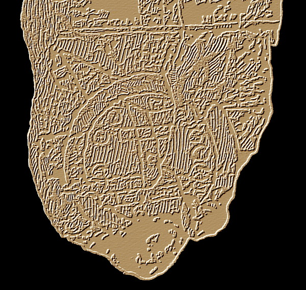 Map Of Mesopotamia Print by Sheila Terry
