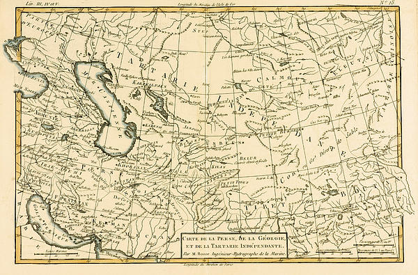Map Of Persia Print by Guillaume Raynal