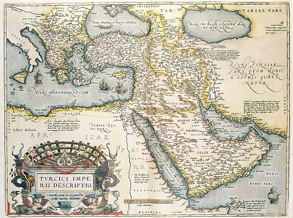 Map Of The Middle East From The Sixteenth Century Print by Abraham Ortelius