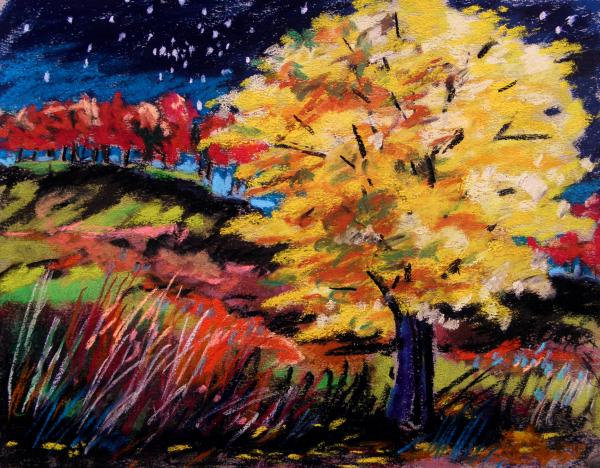 Maple At Night Painting  - Maple At Night Fine Art Print
