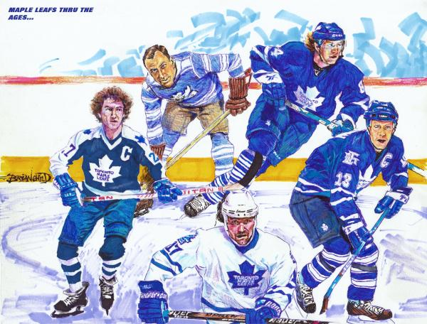Maple Leafs Thru The Ages Print by Brian Child