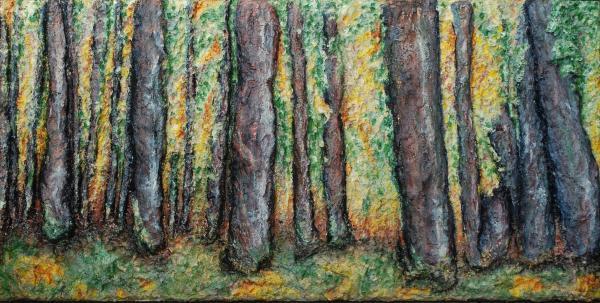 Maple Trees Print by Alison  Galvan