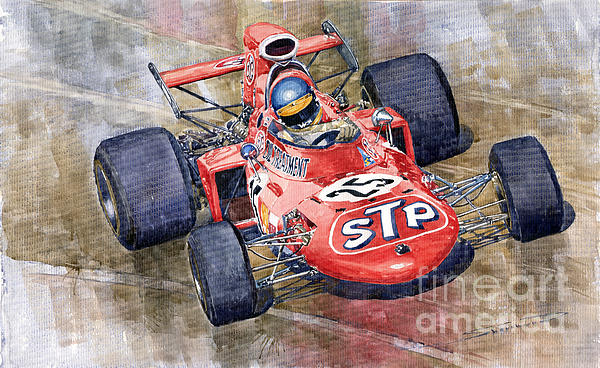 March 711 Ford Ronnie Peterson Gp Italia 1971 Print by Yuriy  Shevchuk