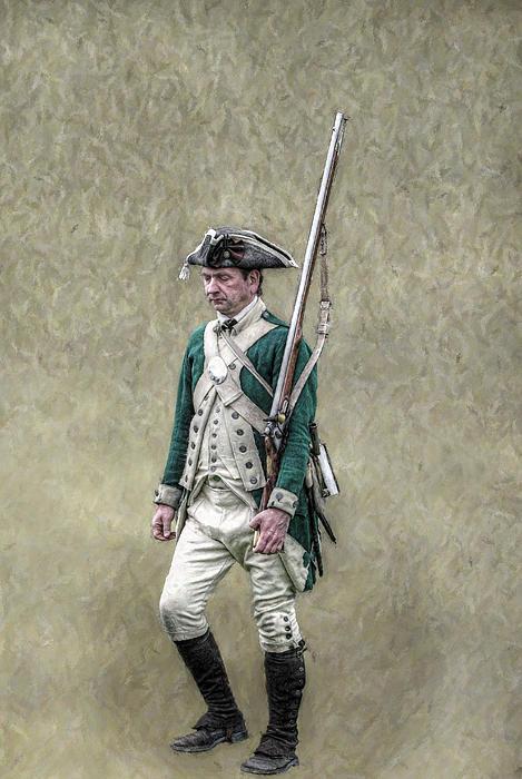 Randy Steele - Marching Loyalist Soldier Revolutionary War