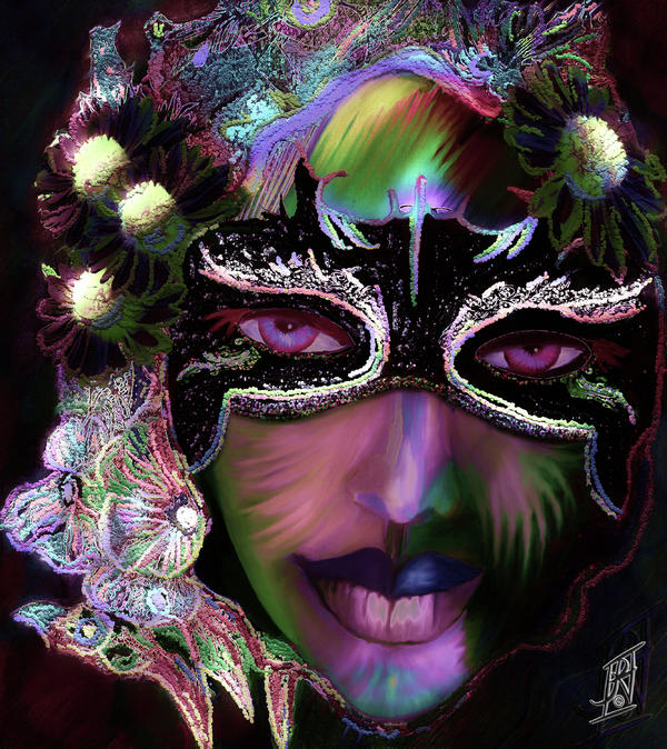 Mardi Nocturne Print by Rosy Hall