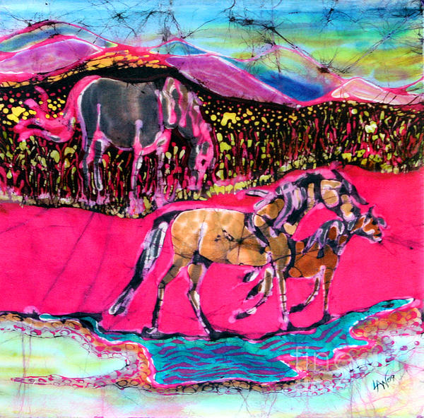 Mare And Foal Print by Carol Law Conklin