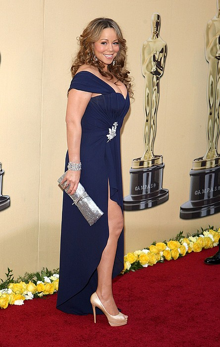 Mariah Carey Wearing A Valentino Gown Print by Everett