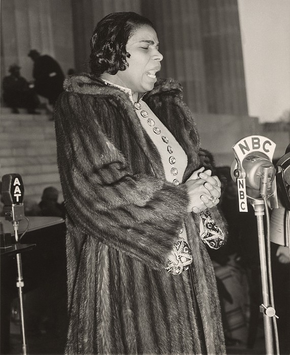 Marian Anderson 1897-1993, At A Nbc Print by Everett
